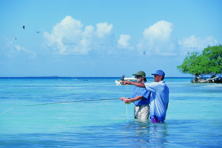 Fishing at Cayo Espanto