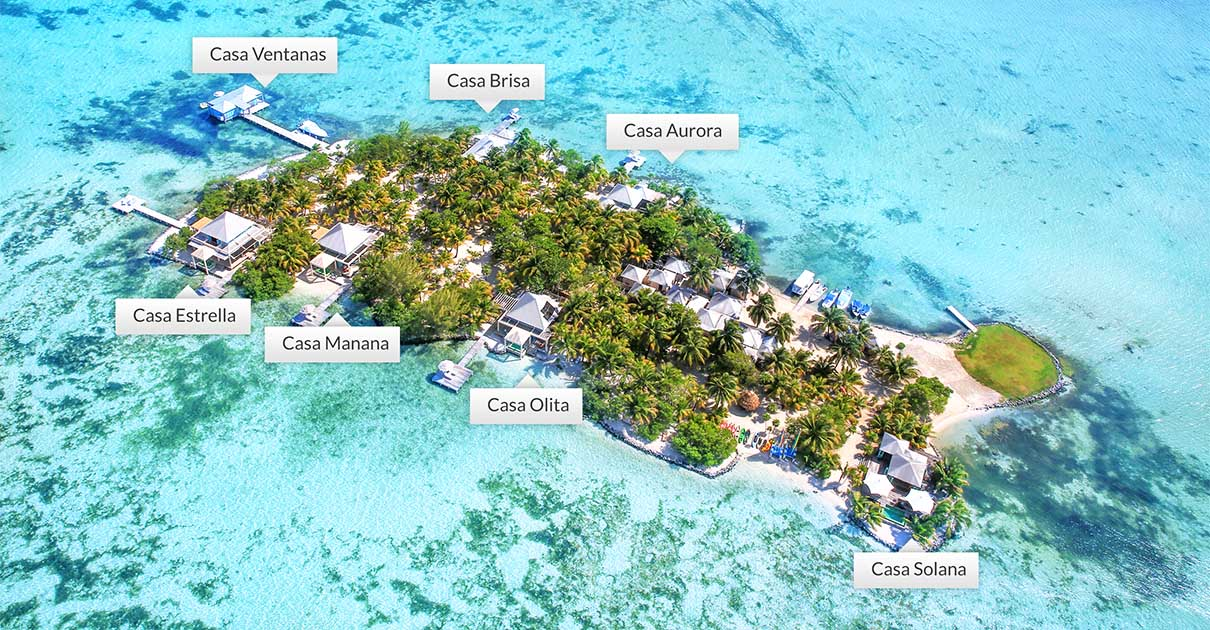 Cayo Espanto Island Villa Map