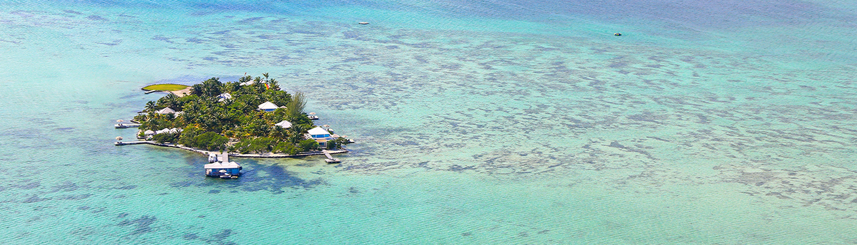 Cayo Espanto Private Island Overhead